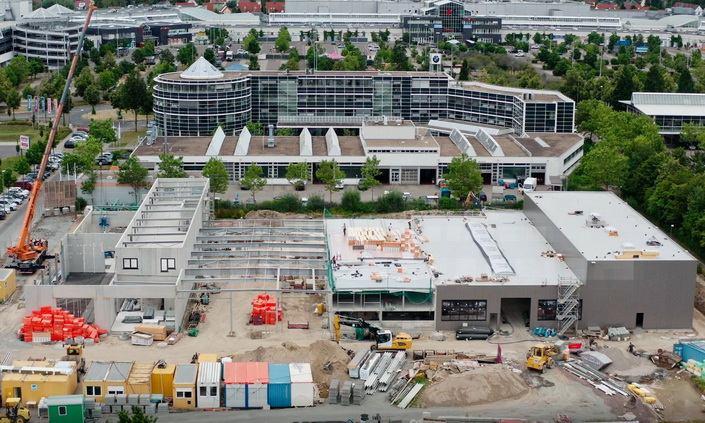 Baustelle Autohaus Müller, Leipzig